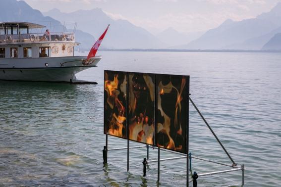 Le feu au lac